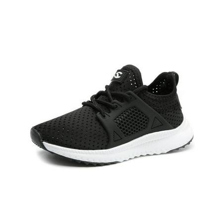 Kids Boys Girls Running Shoes Athletic Comfortable Fashion LightWeight Mesh Slip on Cushion Sneakers ()