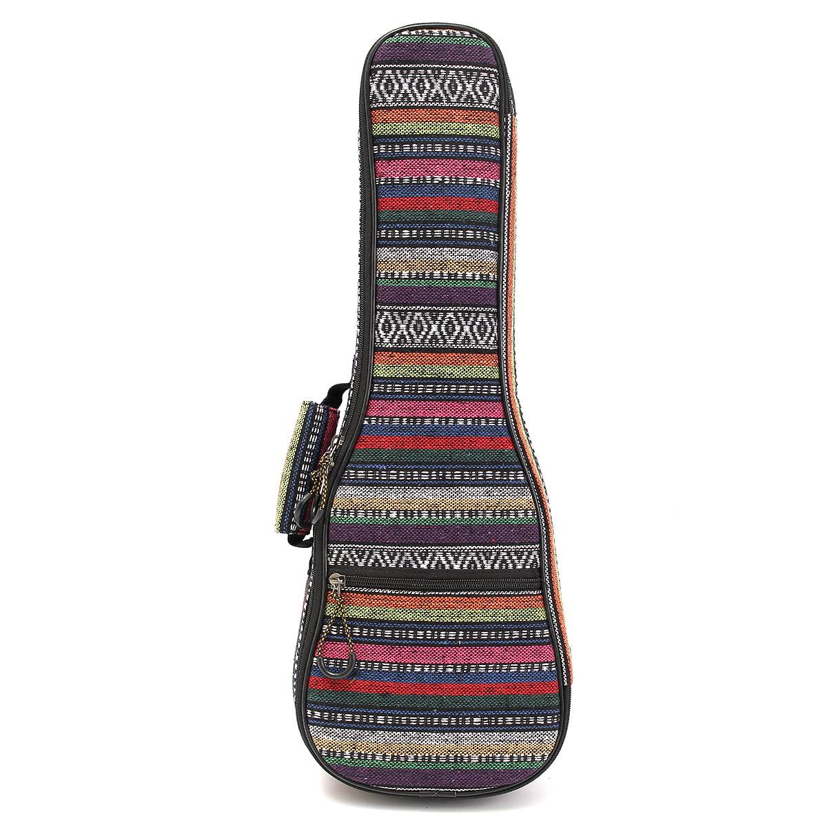 21''/23''/26'' Portable Double Strap Ukulele Carry Bag Uke Shoulder Padded Case