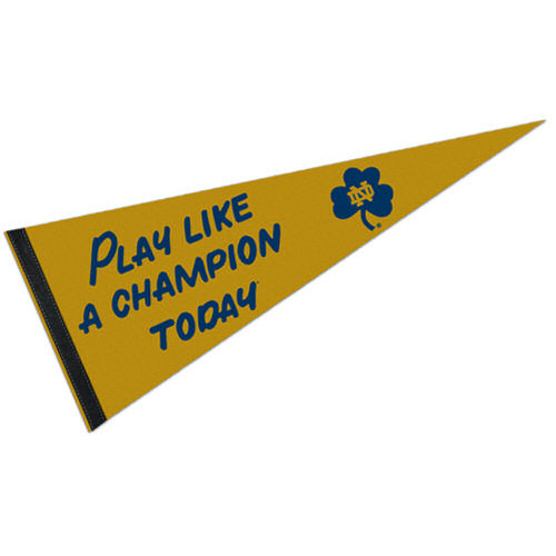 Notre Dame Play Like a Champion Pennant
