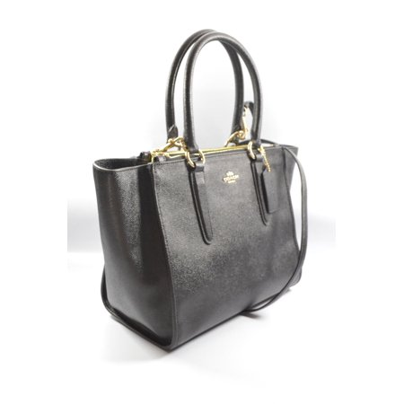 Coach F14928 IMBLK Black Crosby Crossgrain Leather  Carryall Bag