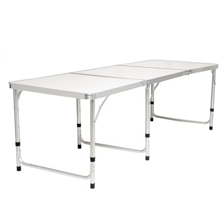 Foldable Aluminum Alloy Table with/wothout 6 Foldable Chairs Stools for Home House Outdoors Picnic(70''x24'') - image 1 de 13