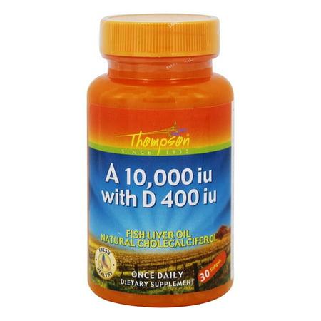 Thompson - Vitamina A 10.000 UI de vitamina D 400 UI - 30 Cápsulas Blandas