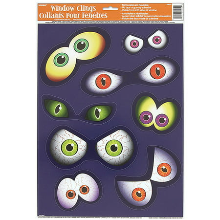 Eyeball Halloween Window Cling Sheet - Halloween Eyeballs Clipart