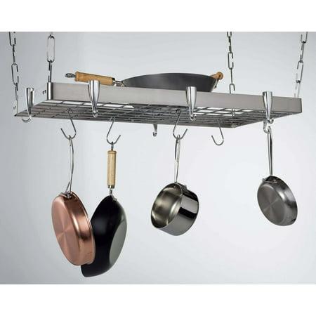 Concept Housewares Steel Pot Rack (Concept Housewares, Stainless Steel Rectangular 36