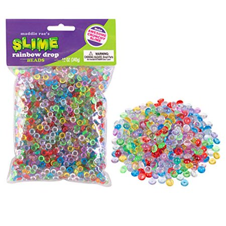 Maddie Rae's Slime Beads Drops Rainbow - 12oz Large Bag of Vase Fillers - Great for Making Clear Fishbowl, Crunchy, Marble, Pebble Slime](Vase Fillers For Halloween)