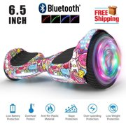 "Hoverboard Bluetooth Two-Wheel Self Balancing Electric Scooter 6.5"" UL 2272 Certified with Bluetooth Speaker and LED Light Unicorn"