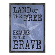 Forest Creations Land of the Free Because of the Brave Patrioticl Graphic Art
