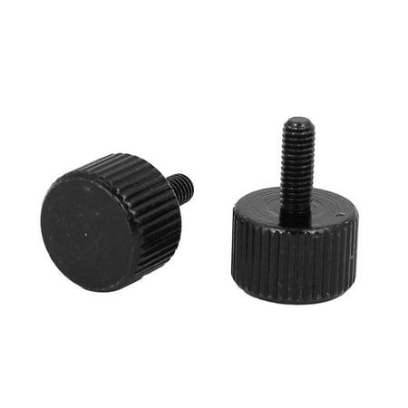 Ordinateur PC bo te tête plat zingué noir vis moletée M3x8mm 10pcs - image 1 de 2