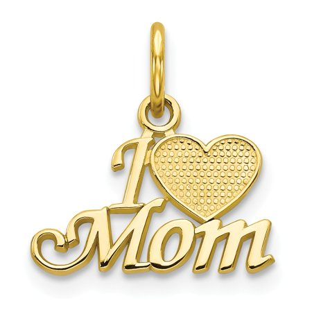 10k Mom Charm in 10k Yellow Gold