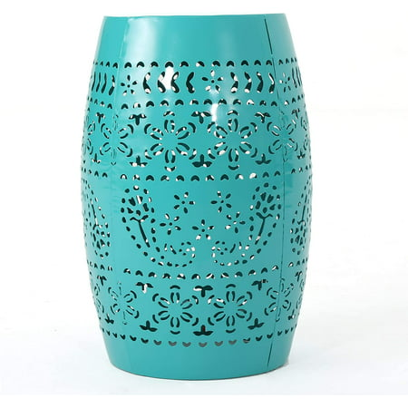 """Christopher Knight Home Ruby Outdoor 12"""" Iron Side Table, Teal"""