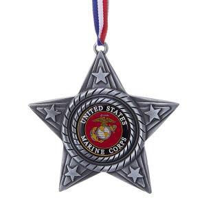 4 Inch United States Marine Star Metal Christmas - Gibson Designs Christmas Star