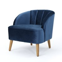 Scarlett Modern Velvet Club Chair, Cobalt