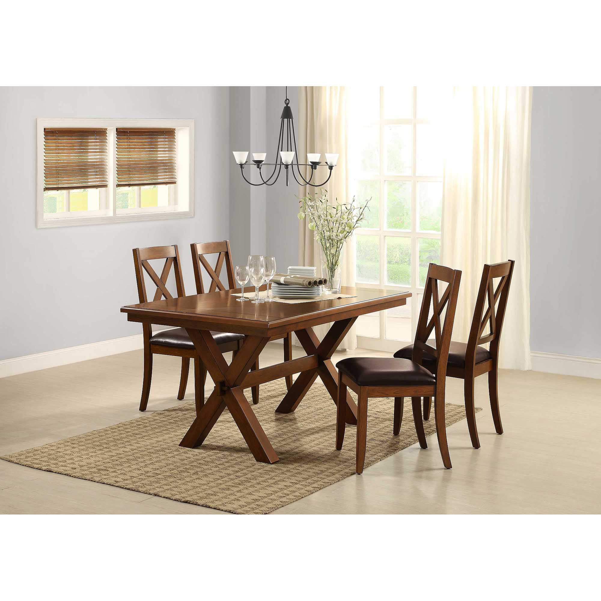 Better Homes U0026 Gardens Maddox Crossing Dining Table, Brown   Walmart.com