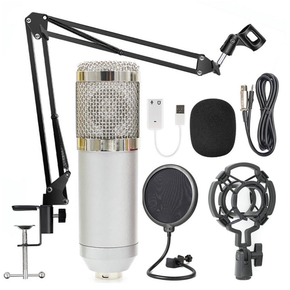 Bm800 Professional Suspension Microphone Kit Studio Live Stream Broadcasting Recording Condenser Microphone Set Walmart Canada