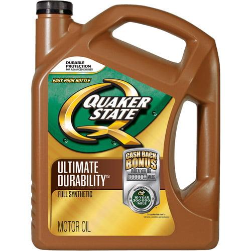 Quaker State Ultimate Durability 5W20 Motor Oil, 5 qt