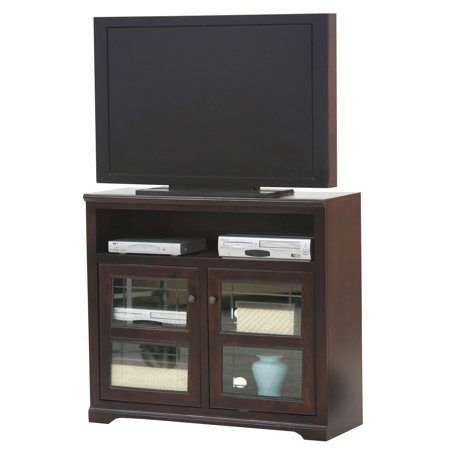 Glass Wide Credenza (Eagle Furniture Savannah 45 in. Plain Glass Wide TV Stand )
