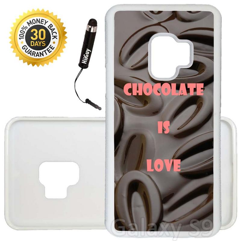 Custom Galaxy S9 Case (Chocolate Cocoa Beans Lover) Edge-to-Edge Rubber White Cover Ultra Slim | Lightweight | Includes Stylus Pen by Innosub