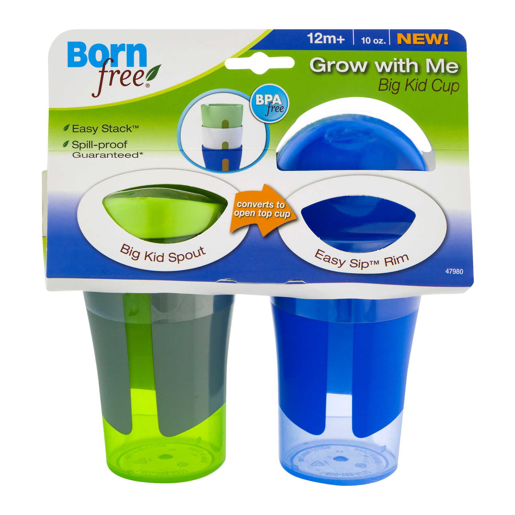 Born Free Grow With Me Big Kid Hard Spout Sippy Cup - 2 pack