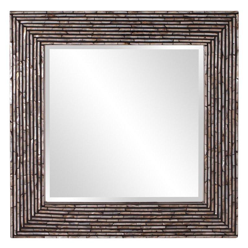 Elizabeth Austin Orlando Mother of Pearl Inlay Square Mirror 32W x 32H in. by Howard Elliott