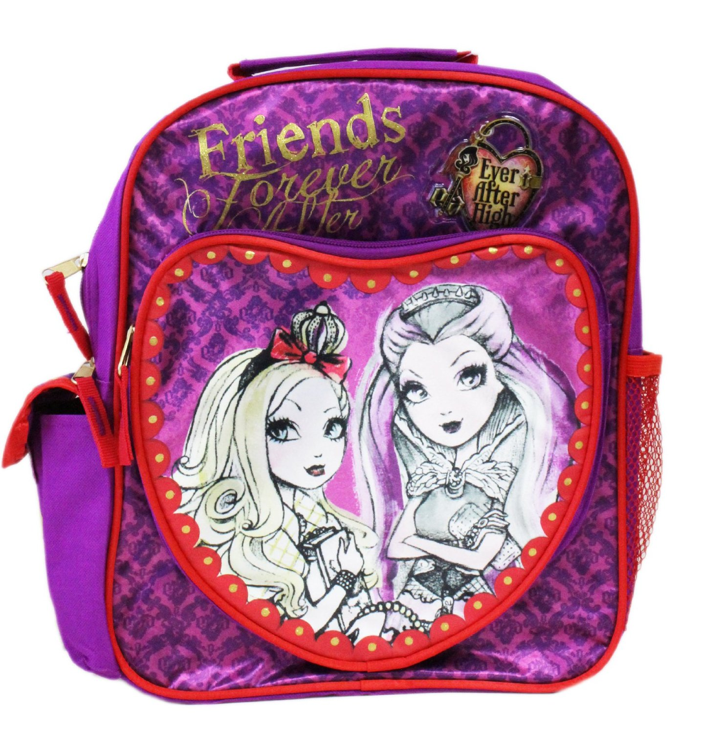 Small Backpack - Ever After High - Heart Purple School Bag New 095295