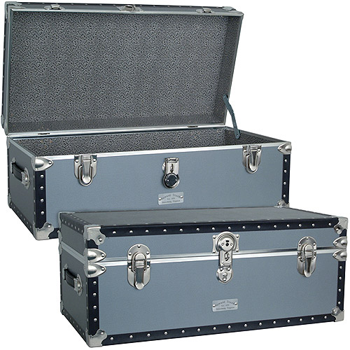 "Seward? Classic Collection Oversized Footlocker Trunk, 30.9"", Silver"