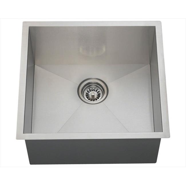 MR Direct 2321S 90 Degree Rectangular Stainless Steel Utility Sink