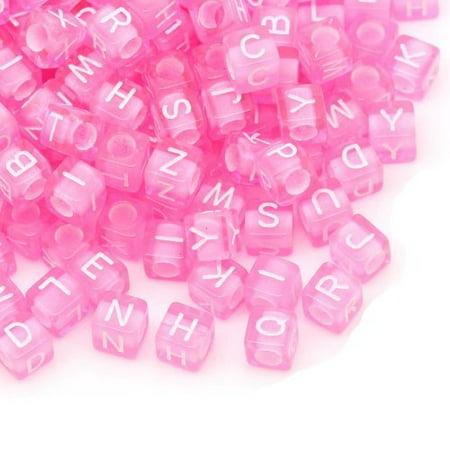 450 Mixed Pink Acrylic Alphabet /Letter