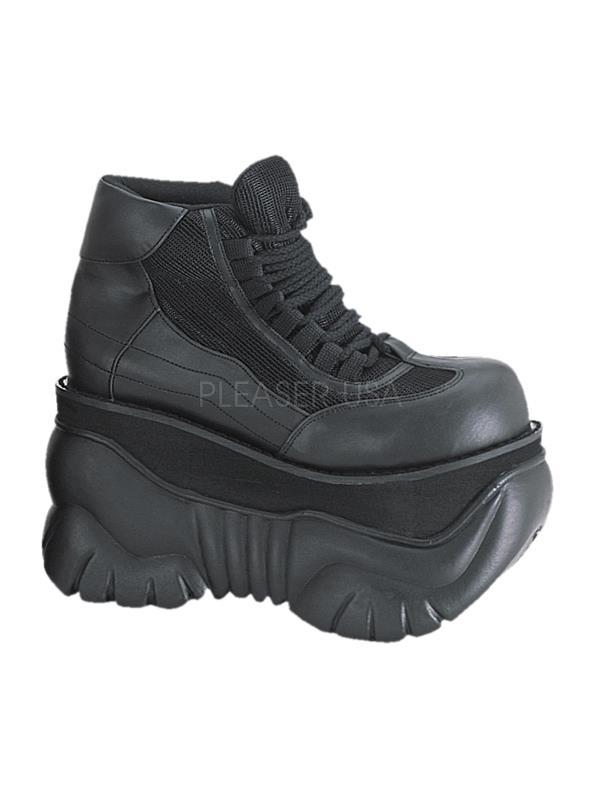 BOXER/B/PU Demonia Platform Sandals & 12 Shoes Unisex BLACK Size: 12 & 609223