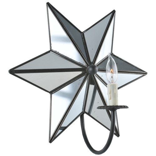 Meyda Tiffany 1 Light Mirrored Star Wall Sconce