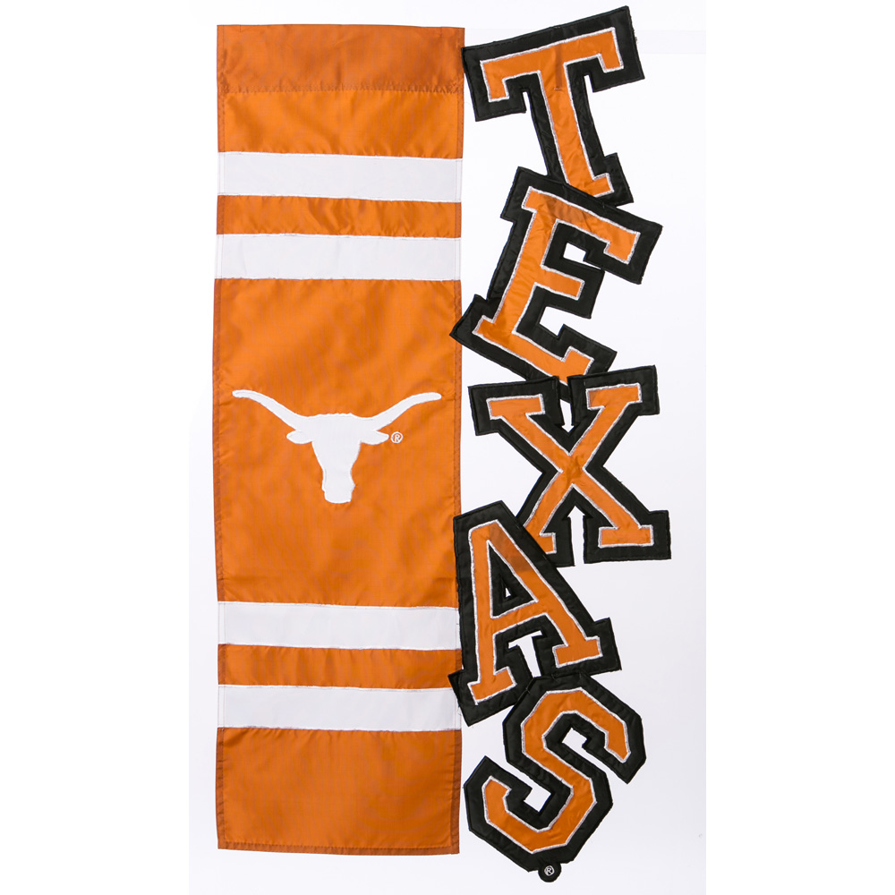 University Of Texas Sculpted Applique House Flag