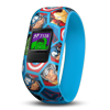 Garmin Vivofit Jr 2 Replacement Bands - 4-7 / Avengers Check out the new designs and characters on the vívofitjr. 2 accessory bands! These bands work with vívofit jr., too! Purchasing a new band — whether it's the stretchy band, recommended for ages 4 to 7, or theadjustable one, recommended for ages 6+ — your kids gain access to a whole new world of app adventures. The band corresponds with the app adventure experience on the parent-controlled mobile app. What'll it be?With either Disney Minnie Mouse band, kids progress in Mickey's Birthday Surprise: A Disney Adventure app as they reach their 60-minute activity goal daily, inspiring them to do their best. With you as their helper, your little character goes alongside Minnie Mouse and her friends in adventures, as they plan a surprise birthday party for Mickey Mouse. Decorate for the party with Daisy Duck, whip up the birthday cake with Goofy, and get everything ready — but make sure Mickey Mouse doesn't find out!Avengers assemble! With the stretchy or adjustable Marvel