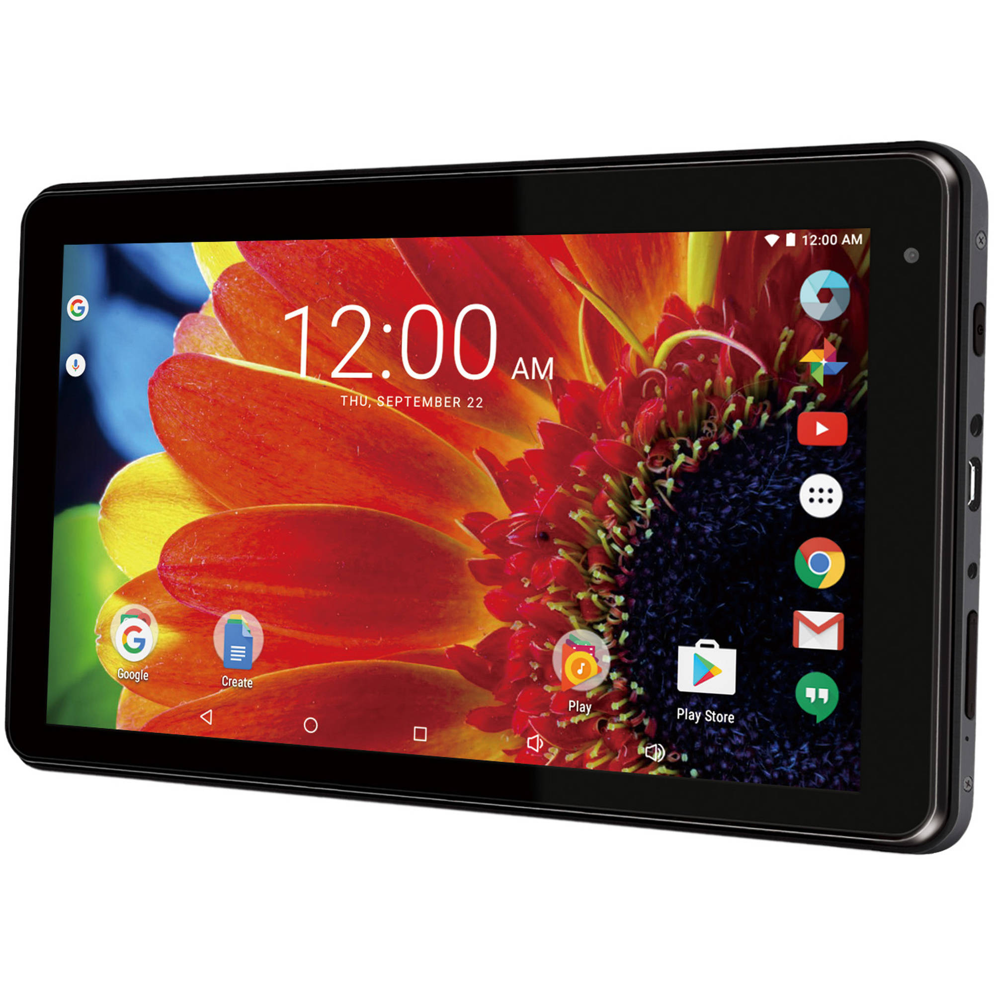 "RCA Voyager with WiFi 7"" Touchscreen Tablet PC Featuring Android 6.0 (Marshmallow) Operating System, Black"