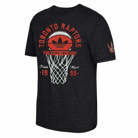 Toronto Raptors Nba Adidas Mens Black Premium Tri Blend T Shirt