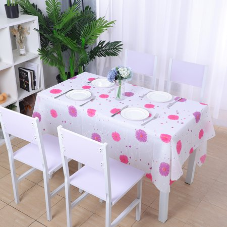 Table Cover Vinyl (Rectangle Tablecloths Vinyl Print Pattern Table Cover Tabletop Wedding Camping Table Cloth 42
