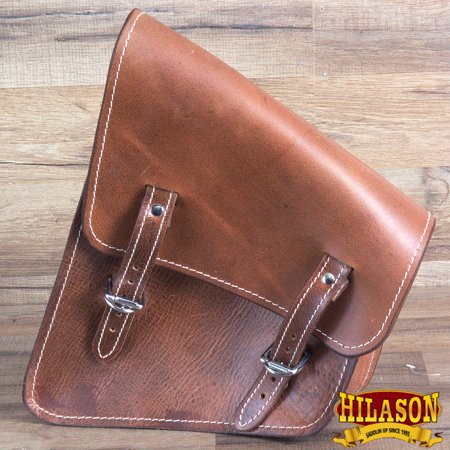 Motorcycle Bike Right Side Saddle Bag Leather Softail Rigid Hilason Left Side Saddlebag