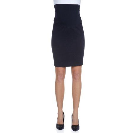 Womens Maternity midi Length Pencil Skirt Stretch Waistband