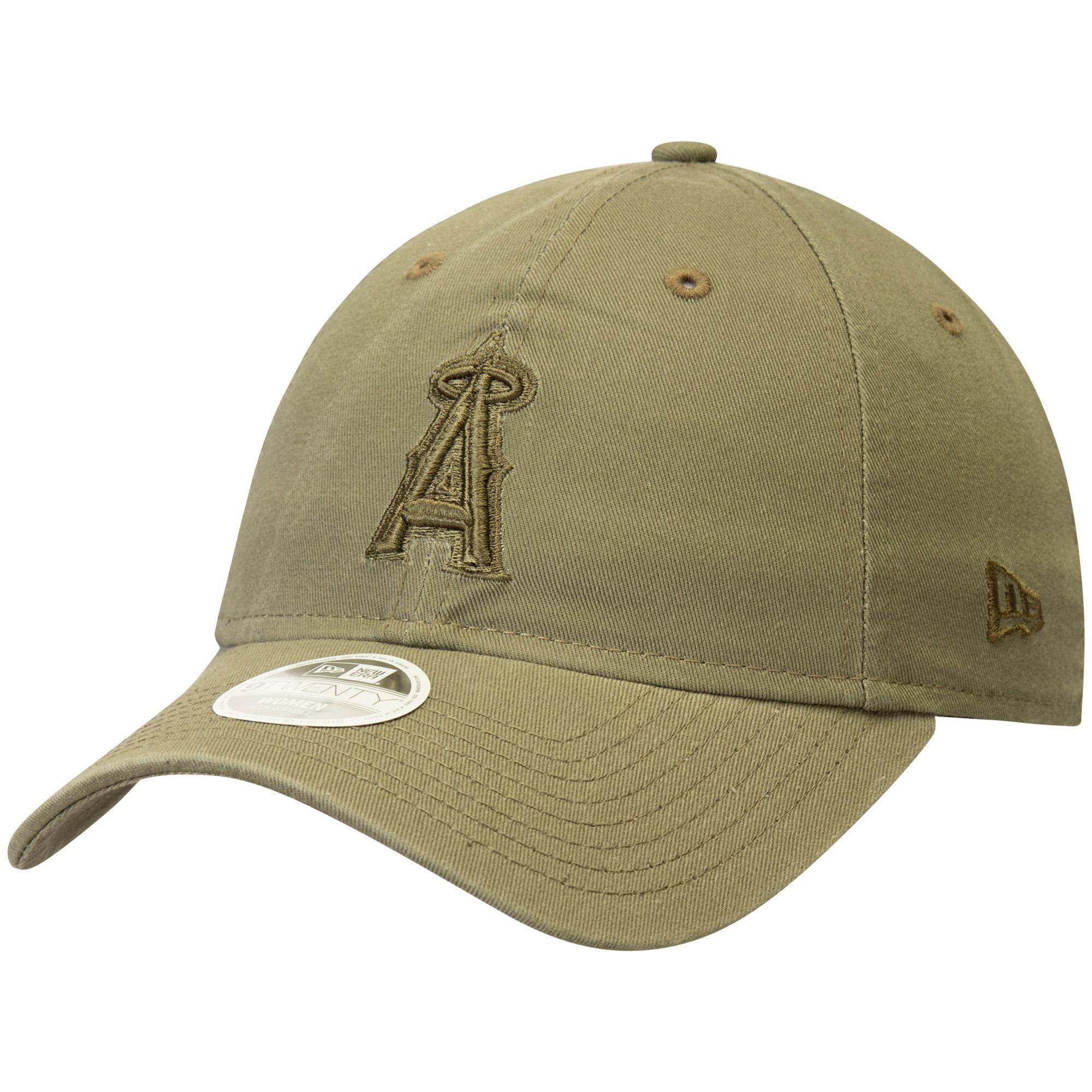 Los Angeles Angels New Era Women's Bark Tonal Core Classic 9TWENTY Adjustable Hat - Olive - OSFA