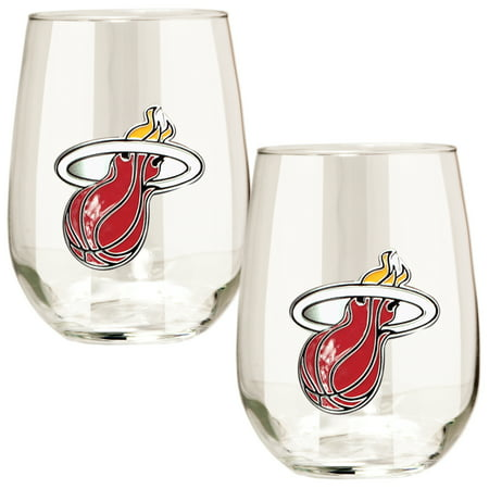 - Miami Heat Stemless Wine Glass Set - No Size