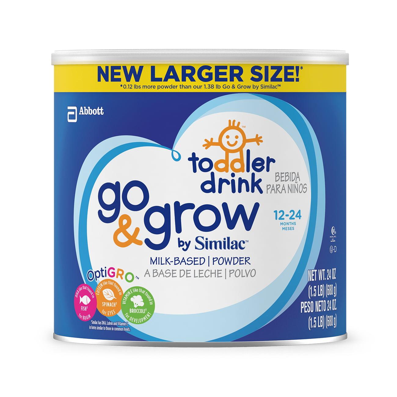 Go & Grow by Similac Milk-Based Toddler Drink, Powder, 1.5 lb