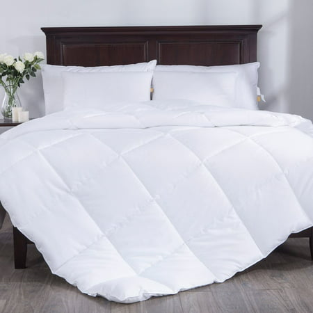 Puredown All Season White Down Alternative Comforter Duvet Insert, Peach Skin