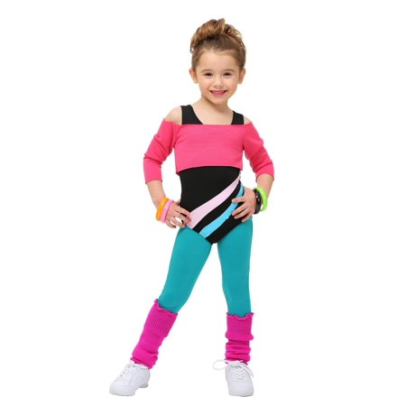 Toddler 80's Workout Girl Costume - Grown Up Halloween Party