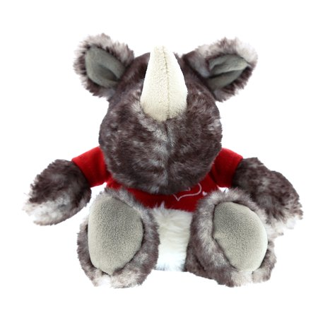 Rhino Soft Top - Super Soft Plush Dollibu Sitting Brown Rhino I Love You Shirt Valentines Plush