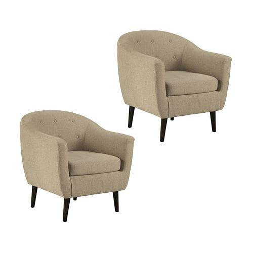 Klorey Khaki Accent Chair 3620621 (2-Pack) Klorey Khaki Accent