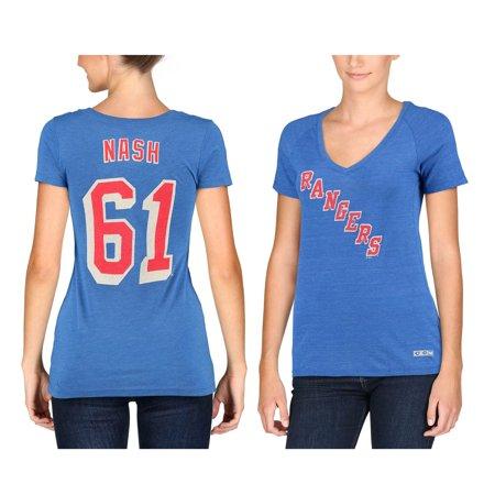 finest selection 2cb66 6352e CCM Rick Nash New York Rangers Women's Name & Number Tri ...