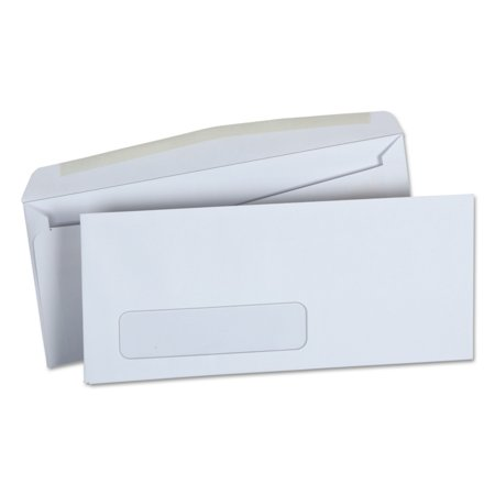 Universal Window Business Envelope, Side, #10, 4 1/8 x 9 1/2, White, 500/Box -UNV36321