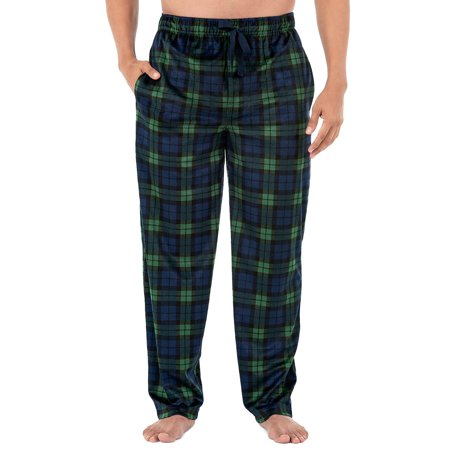 Izod Men's Micro Fleece Pajama Pant in Navy, Size Medium