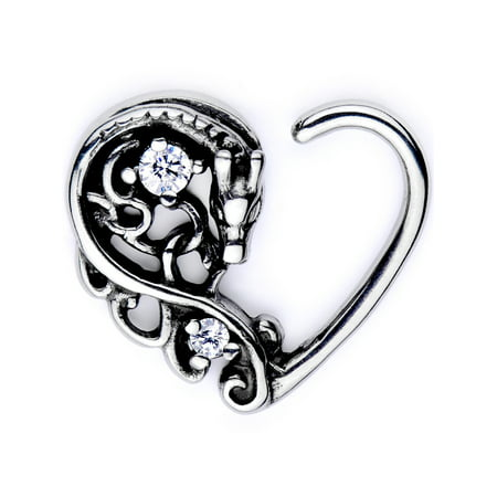 - Body Candy Body Piercing Jewelry Stainless Steel 16G Right Closure Daith Cartilage Dragon Heart Tragus Earring