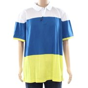 Tommy Hilfiger NEW Blue Mens Size XL Short-Sleeve Polo Colorblock Shirt