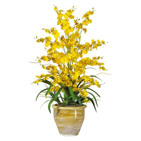 Nearly Natural Triple Dancing Lady Orchid Silk Flower