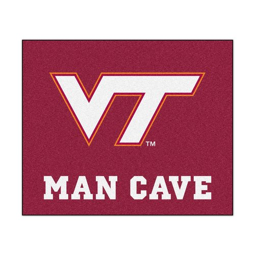 Virginia Tech Man Cave Tailgater Rug 5'x6'